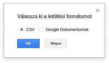 Keresési adatok elmentése a Google Search Console-ban CSV fájlként
